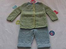 Detské súpravy - Chlapčenská súprava: kabátik a nohavice - 9124862_