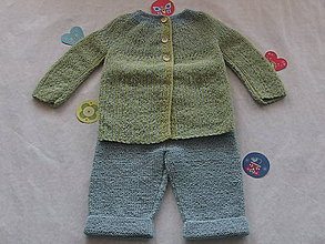 Detské súpravy - Detská súprava: kabátik a nohavice - 9124862_
