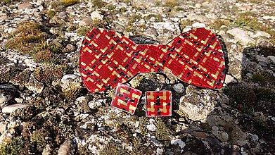 Doplnky - Motýlik carbon-červené sklo-aramid - 9128977_