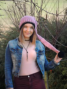 Detské čiapky - Staroružová elfka - 9128410_