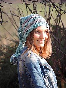 Detské čiapky - Tyrkysová elfka - 9128418_