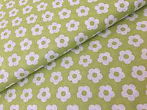 Textil - 100% bavlna jarná zelena - 9125414_