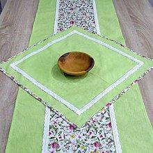 Úžitkový textil - Jar klope na dvere - obrus štvorec 44x44 - 9125884_