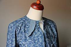 Košele - Denimová košeľa s potlačou - 9127824_