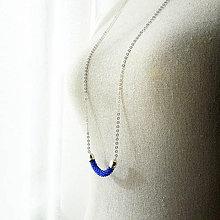 Náhrdelníky - SNAKE kráľovská modrá - dlhý náhrdelník - 9127888_