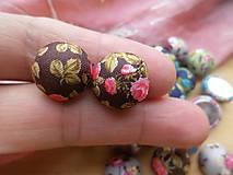 - Kvetované kabošony (butonky) - pár (Hnedá) - 9127551_