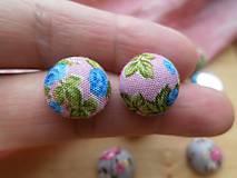 - Kvetované kabošony (butonky) - pár (Ružová) - 9127562_