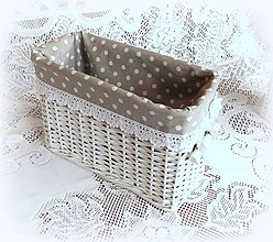 Košíky - Košík romantik v šedej (30 x 12 v 19) - 9126155_