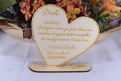 Darčeky pre svadobčanov - Poďakovanie rodičom drevené srdiečko  47 - 9125355_
