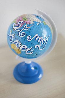 Dekorácie - Glóbus-si môj svet - 9125599_
