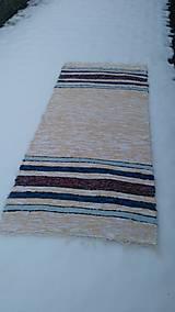 Úžitkový textil - Chlpatý béžový s farebnými pásmi - 9126282_