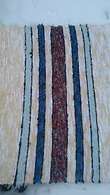 Úžitkový textil - Chlpatý béžový s farebnými pásmi - 9126283_