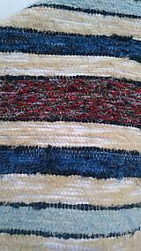Úžitkový textil - Chlpatý béžový s farebnými pásmi - 9126284_