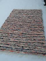 Úžitkový textil - Chlpatý oranžovo béžový melír - 9126322_
