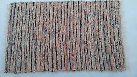 Úžitkový textil - Chlpatý oranžovo béžový melír - 9126323_