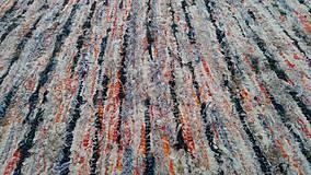 Úžitkový textil - Chlpatý oranžovo béžový melír - 9126333_