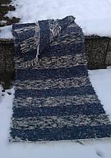 Úžitkový textil - Chlpatý koberec tmavé pásy - 9126367_