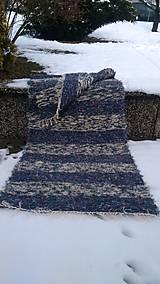 Úžitkový textil - Chlpatý koberec tmavé pásy - 9126368_
