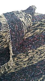 Úžitkový textil - Chlpatý koberec tmavé pásy - 9126369_