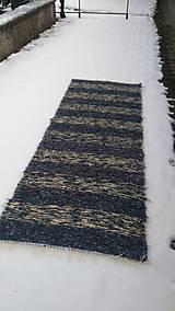 Úžitkový textil - Chlpatý koberec tmavé pásy - 9126373_