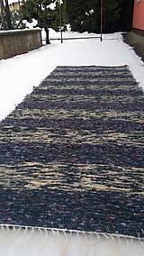 Úžitkový textil - Chlpatý koberec tmavé pásy - 9126374_