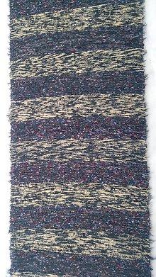 Úžitkový textil - Chlpatý koberec tmavé pásy - 9126379_