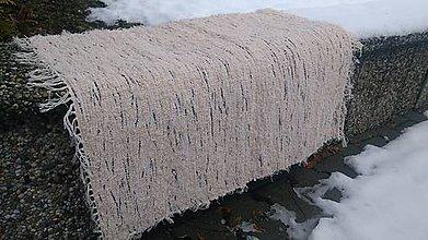 Úžitkový textil - Chlpatý béžový melír s čiernou - 9126567_