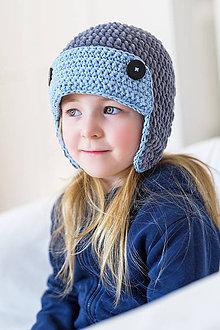 Detské čiapky - Zimná ušianka ... posledná letecká - 9134526_