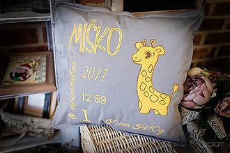 """Úžitkový textil - Vankúšik pre novorodenca """" Miško"""" - 9132891_"""