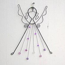 Detské doplnky - anjel s fialovými šatami - 9131040_