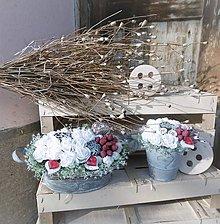Dekorácie - Set - biele ruže s príchuťou malín - 9132940_