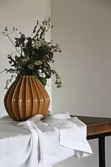 Úžitkový textil - Biely ľanový obrus - 9133085_
