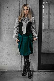 Sukne - Boková sukně Janelle, zelená - 9130183_
