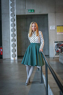 Sukne - Kolová sukně Charlotte, pas 68-71 cm - 9130358_