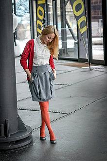 Sukne - Boková sukně Janelle, světlé šedá - 9131435_