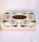 Krabičky - Krabica na vreckovky-Rose - 9130660_