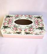 Krabičky - Krabica na vreckovky-Rose - 9130667_