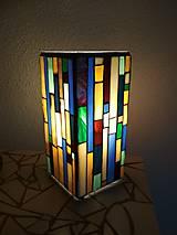 Svietidlá a sviečky - Mozaiková lampa...Farby Zeme (ihneď k odberu :) - 9131995_