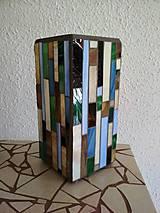 Svietidlá a sviečky - Mozaiková lampa...Farby Zeme (ihneď k odberu :) - 9131996_