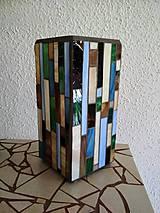 Svietidlá a sviečky - Mozaiková lampa...Farby Zeme (ihneď k odberu :) - 9131997_