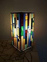 Svietidlá a sviečky - Mozaiková lampa...Farby Zeme (ihneď k odberu :) - 9131999_