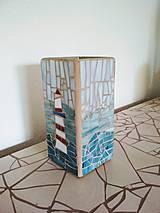 Svietidlá a sviečky - Mozaiková lampa...More Maják Loďka - 9132256_