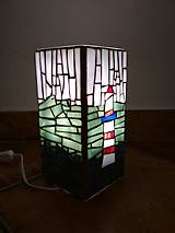 Svietidlá a sviečky - Mozaiková lampa...More Maják Loďka - 9132259_