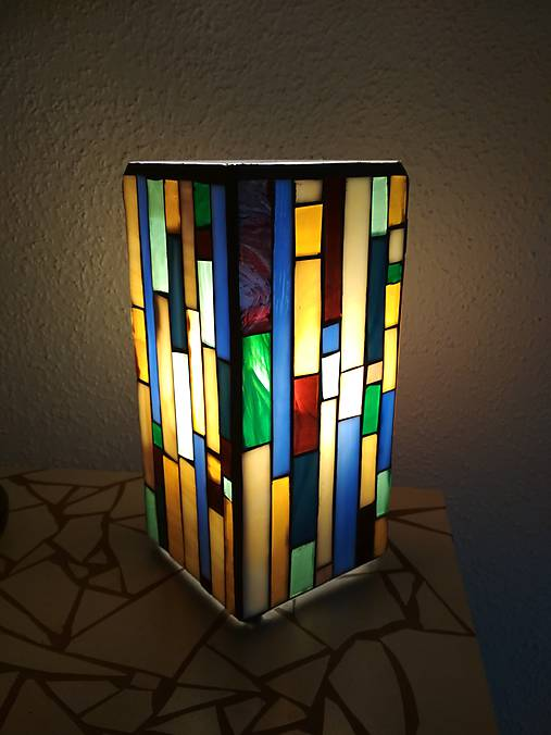 Mozaiková lampa...Farby Zeme (ihneď k odberu :)