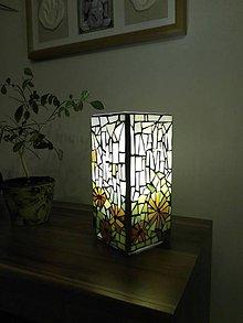 Svietidlá a sviečky - Mozaiková lampa...Jarná lúka - 9131783_