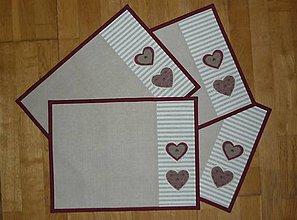 Úžitkový textil - Prestieranie so srdiečkami - tri varianty (6) - 9134285_