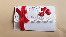 Papiernictvo - svadobná obálka/pohľadnica na peňažný dar - 9130478_