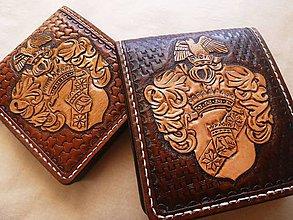Peňaženky - Kožená peňaženka - 9129374_