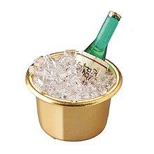 Iný materiál - Miniatúrna fľaša šampanského - 9132735_