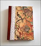 Ručne šitý diár * zápisník * sketchbook ,,Eden